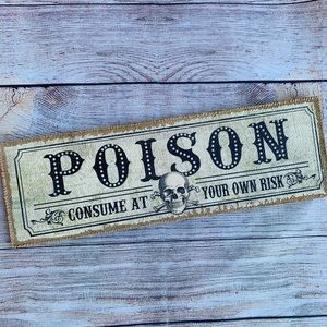 Other - Poison ☠️ Wooden Art Wall Decor